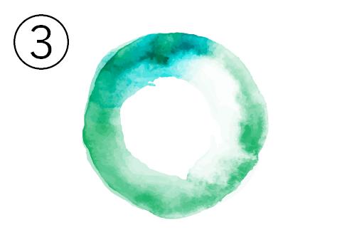 緑、ターコイズのグラデーション丸