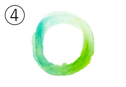 エメラルド。黄緑、緑のグラデーション丸