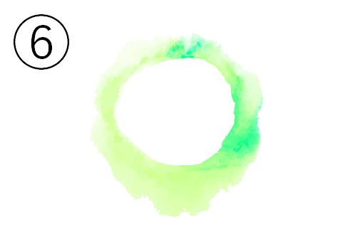 黄緑と蛍光緑のグラデーション丸