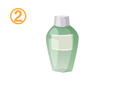 緑の化粧水ボトル