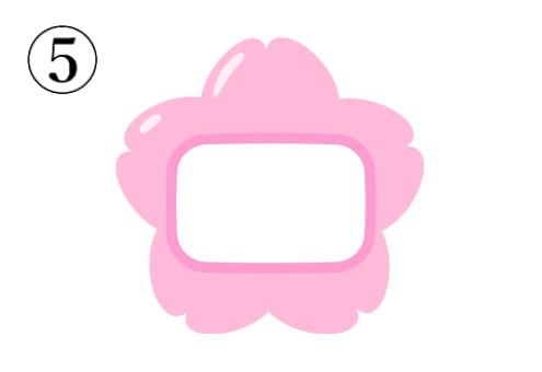 ピンクのさくらの形の名札
