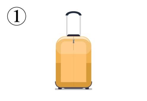 黄色いシンプルなキャリーケース