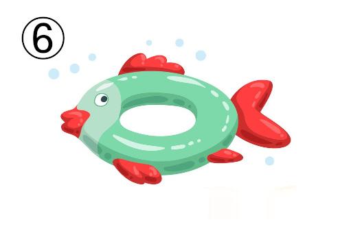魚の形の浮き輪