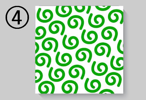緑の渦巻柄
