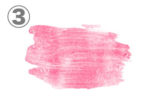 ピンクのリップ