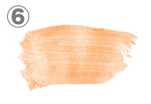 ペールオレンジのリップ