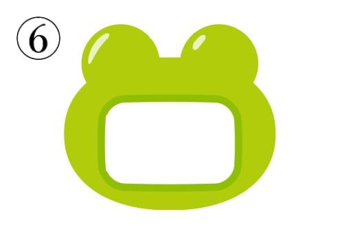 黄緑のカエルの形の名札