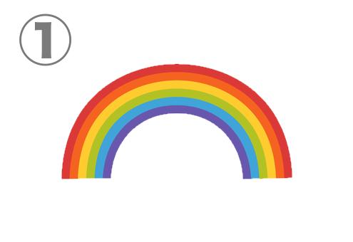 シンプルなアーチの虹
