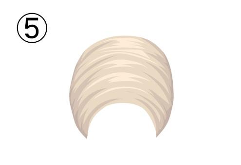 白い卵型のターバン