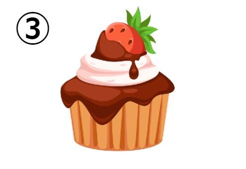 いちごチョコカップケーキ