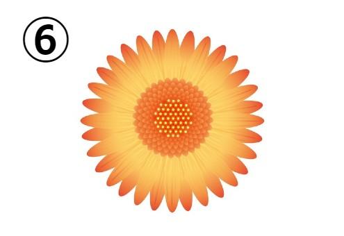 オレンジ、黄色のグラデーションのガーベラ