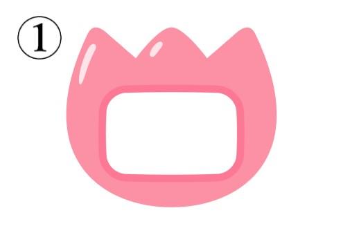 コーラルのチューリップの形の名札