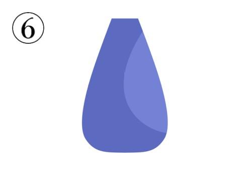 上がすぼんだくすみブルーの花瓶