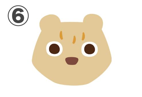 ベージュの真ん丸な目のクマ