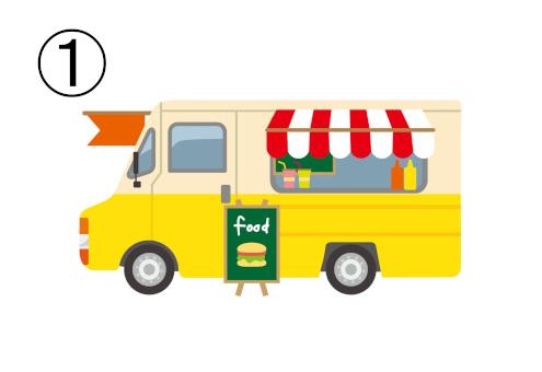 ハンバーガーのフードトラック