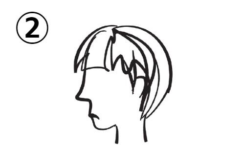 ショートヘアの、口をへの字に曲げた女性の横顔