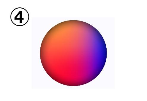 赤、黄色、ピンク、紫のグラデーション