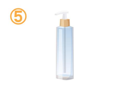 背の高い、透明なスプレーボトル