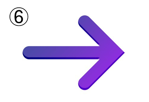 ネイビーから紫のグラデーションの矢印