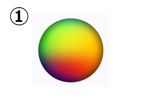 黄緑、黄色、オレンジ、黒のグラデーション