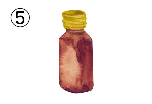黄色キャップの茶ボトル