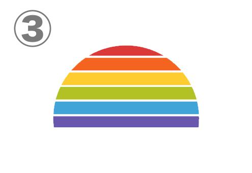 ボーダー状の虹