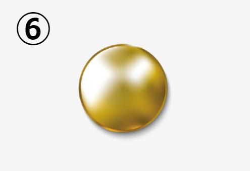 金の丸いネジ