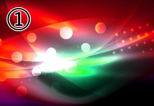 赤、白、緑中心なグラフィック