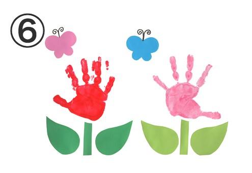 手形が花になっている絵