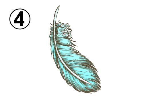 ターコイズの羽