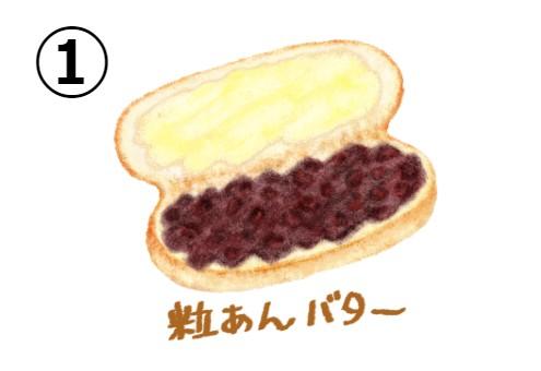 粒あんバター