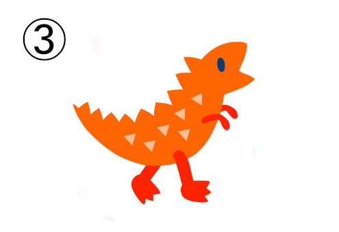 オレンジの恐竜