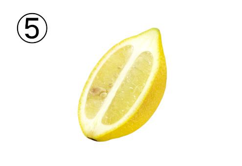 縦方向に切ったレモン