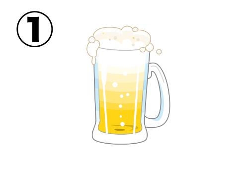 カットイラスト感の強いビールイラスト
