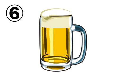 便の光沢の強いビールイラスト