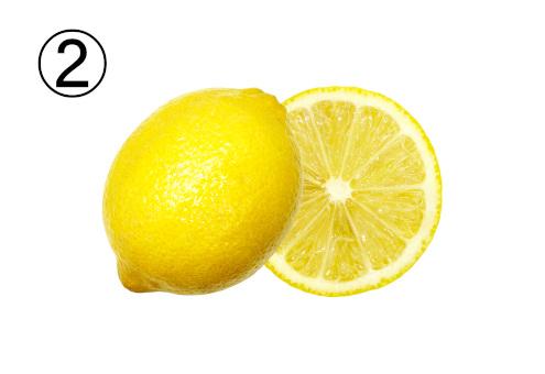輪切りレモンと切っていないレモン