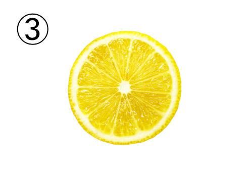 輪切りレモンの正面