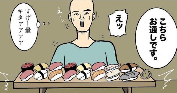 ツッコミ殺到の《回転寿司4コマ》。反響に作者「来世は回転寿司屋に…」