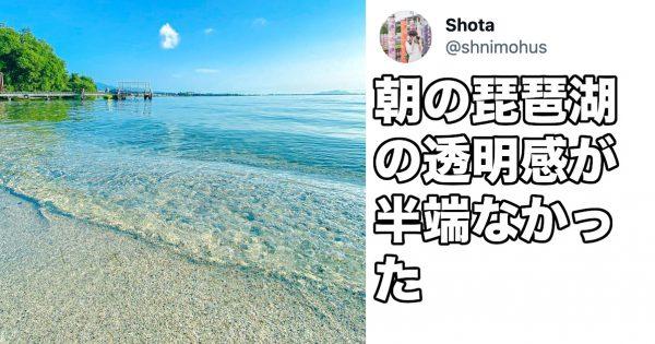 南国リゾートじゃなくて滋賀県!?本気だした琵琶湖の「衝撃的な透明感」に癒される…
